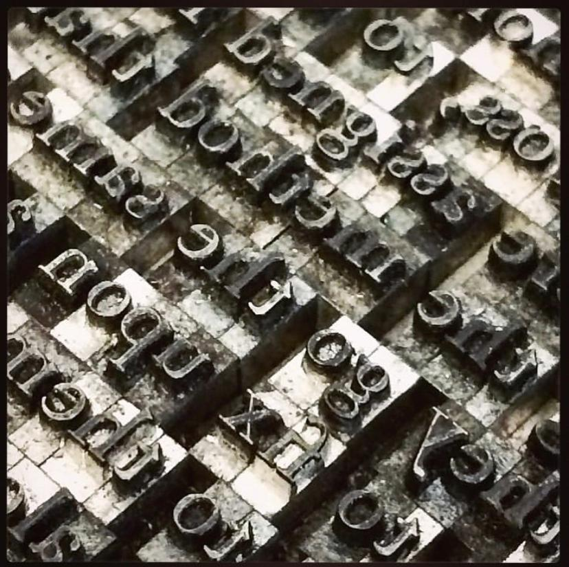 Photo closeup of letterpress type