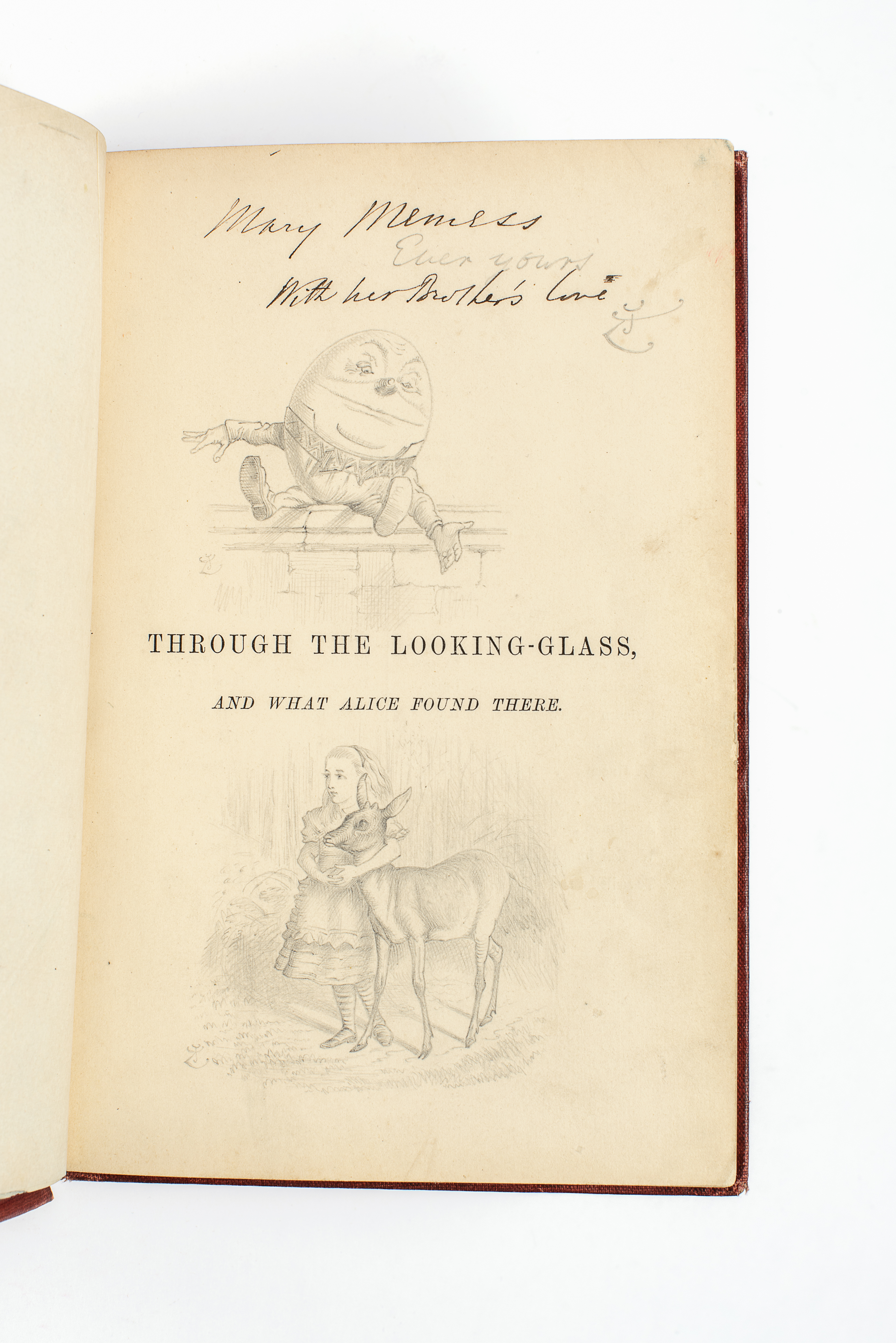 Carroll's Through The Looking Glass With Original Tenniel Sketches