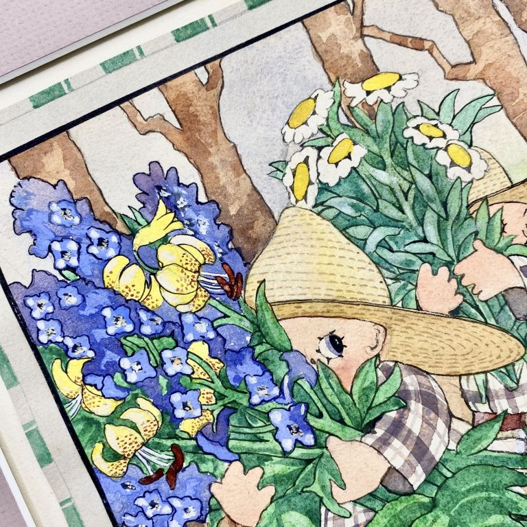 Original art: Peek-A-Books Among the Flowers