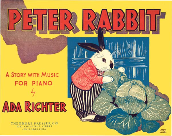 PETER RABBIT : A STORY WITH MUSIC FOR PIANO. Ada Richter, Beatrix Potter.