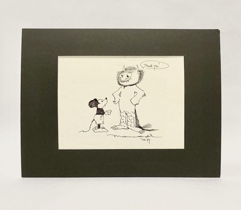 Original art of a Wild Thing and Mickey Mouse