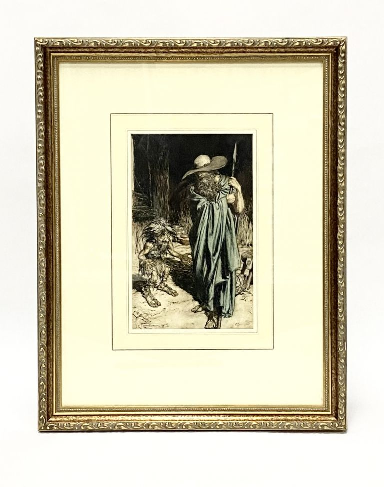 Original art from SIEGFRIED AND THE TWILIGHT OF THE GODS. Arthur Rackham, Richard Wagner.