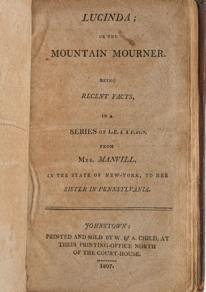 LUCINDA: OR THE MOUNTAIN MOURNER