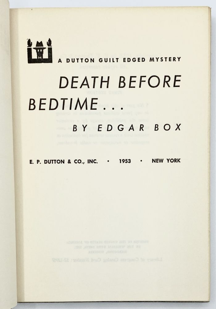 DEATH BEFORE BEDTIME