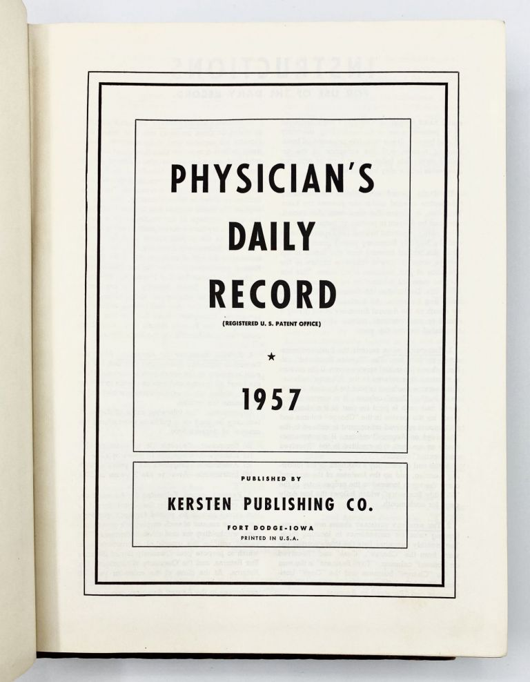PHYSICIAN'S DAILY RECORD