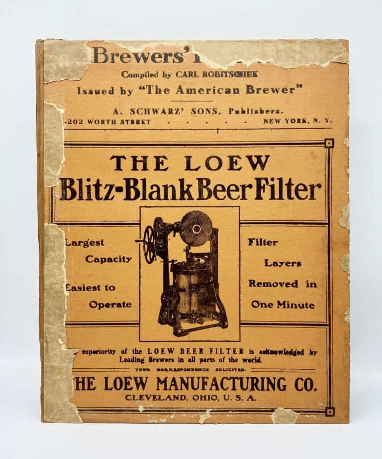 Folk Artist's Scrapbook Contained in American Beer Brewer Catalogue and Ledger