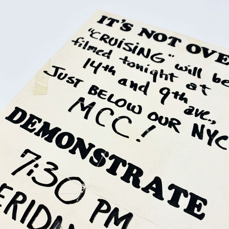 Original Flyer Announcing a Protest Against the Film CRUISING
