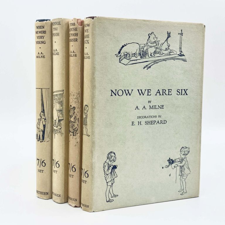 The Pooh Books: WHEN WE WERE VERY YOUNG; WINNIE THE POOH; NOW WE ARE SIX; THE HOUSE AT POOH CORNER