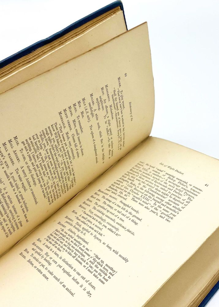 A DICTIONARY OF THE ISLE OF WIGHT DIALECT