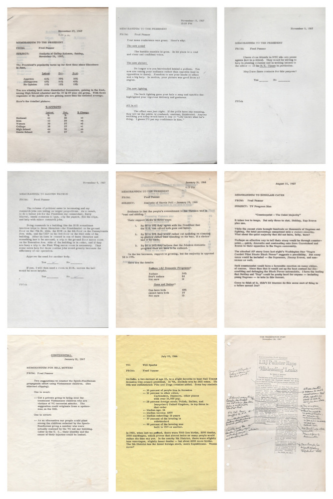 [Archive of White House Memoranda and Other Documents from LBJ Pollster Fred Panzer]. Presidents, Frederick . PANZER, Lyndon B. Johnson.