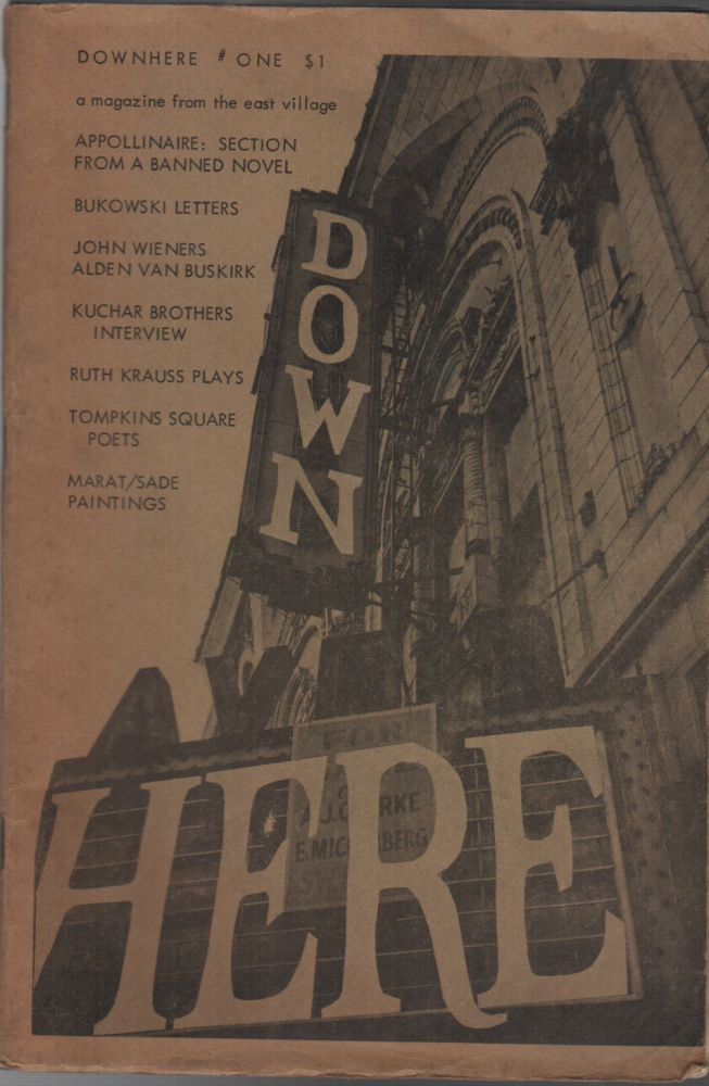 DOWNHERE: A Magazine from the East Village Volume One Number One. Michael PERKINS.