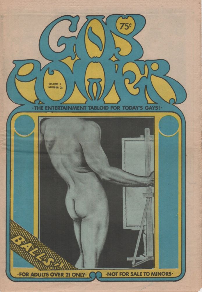 GAY POWER: The Entertainment Tabloid for Today's Gays - Vol. 2 No. 28. Pornography, Erotic Newspapers.