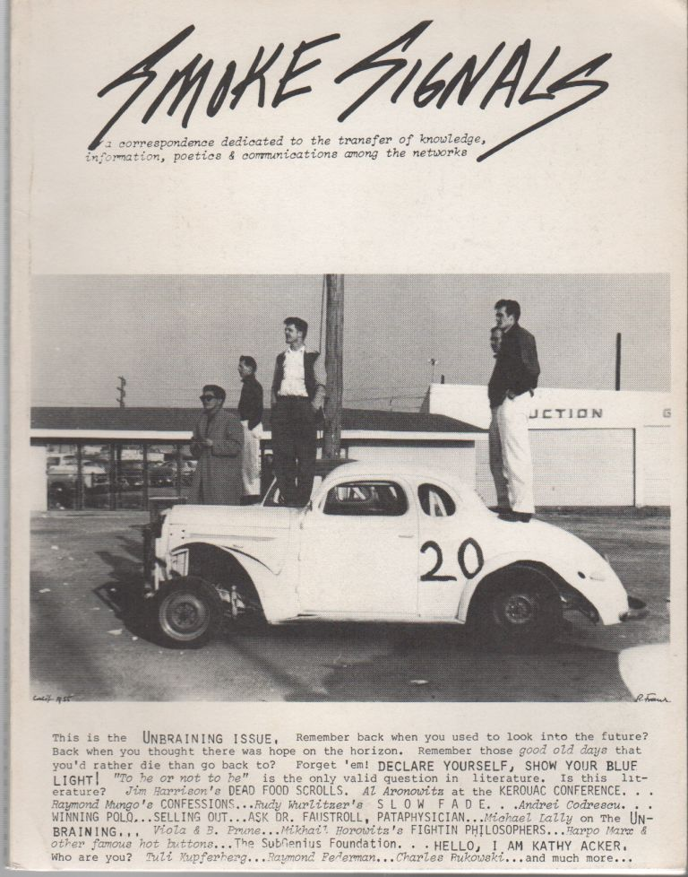 SMOKE SIGNALS No. 20 [With Autographed Postcard Signed From Editor]. Michael GOLDEN, Viki, Robert Frank, Cover Photo.