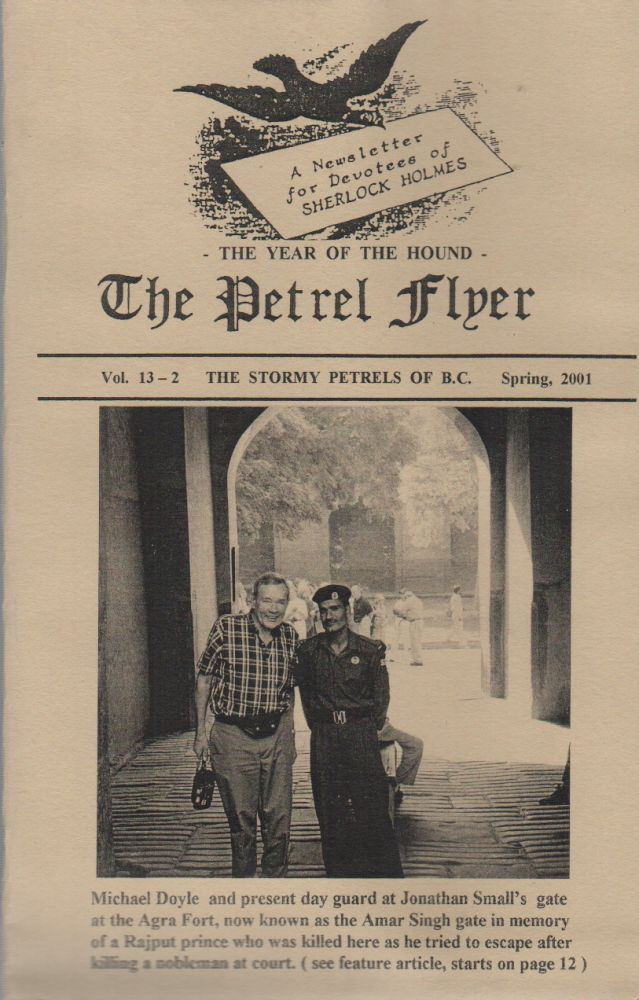 THE PETREL FLYER: A Newsletter for Devotees of Sherlock Holmes - Vol. 13-2 - Spring, 2001. Sherlockiana, Stormy Petrels of British Columbia.
