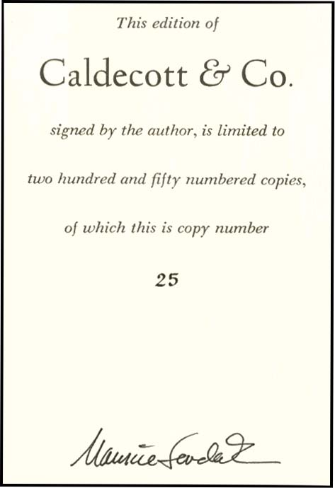 CALDECOTT & CO.: NOTES ON BOOKS & PICTURES