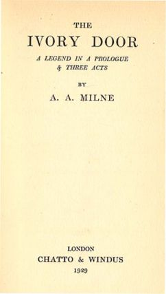IVORY DOOR. A. A. Milne