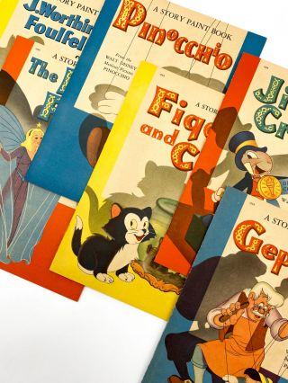 WALT DISNEY'S BOX OF SIX PINOCCHIO BOOKS
