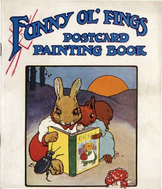 FUNNY OL' FINGS: POSTCARD PAINTING BOOK