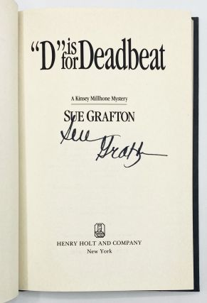 """D"" IS FOR DEADBEAT. SUE GRAFTON"
