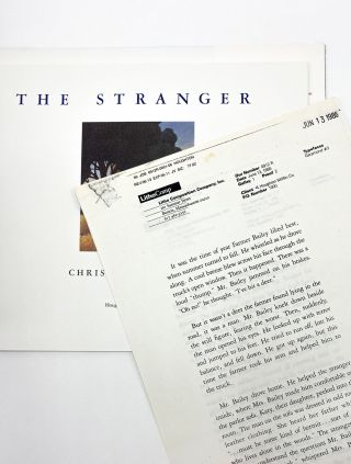 THE STRANGER. Chris Van Allsburg
